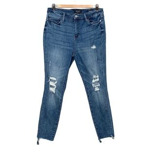 Judy Blue Skinny Distressed High Rise Jeans 31